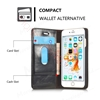 Picture of CASEME Oil Wax Leather Card Holder Case for iPhone 6s/6-Black