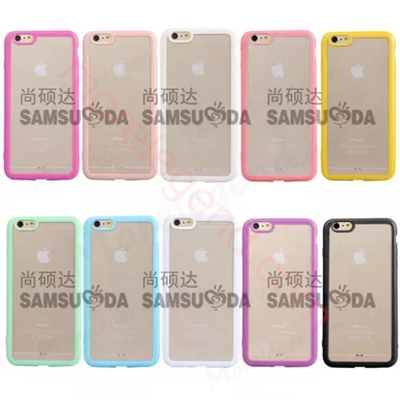 Picture of Rainbown series cases(Transparent back with tpu edge) for iPhone 6/6Plus
