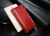 Picture of CASEME Oil Wax Leather Card Holder Cover for iPhone SE 5s 5 - White
