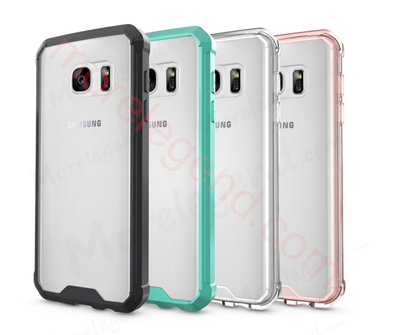图片 For Samsung s7 edge,Armor Transparent Clear Hard Back+TPU Frame Scratch Resistant Shockproof Protective Case