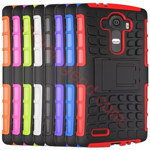 Picture of 2 In 1 Hybrid(Pc+Tpu) Kickstand Case For Lg G4