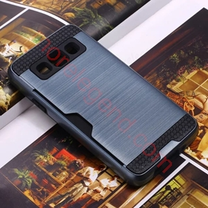 Picture of 2 In 1 Striated Metal Case With Card Slot For Samsung A3
