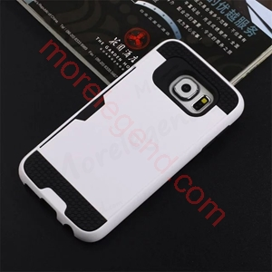 图片 2 In 1 Striated Metal Case With Card Slot For Samsung A9