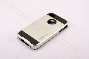 图片 2 In 1 Striated Metal Case With Card Slot For Iphone 4S