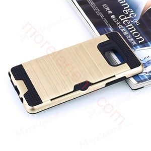 图片 2 In 1 Striated Metal Case With Card Slot For Samsung Note76