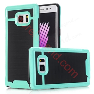 图片 2 In 1 Striated Metal Case With Card Slot For Samsung Note7