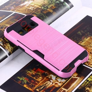 Picture of 2 In 1 Striated Metal Case With Card Slot For Samsung On5
