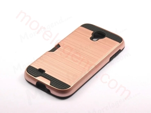 Picture of 2 In 1 Striated Metal Case With Card Slot For Samsung S4