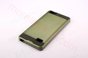 Picture of 2 In 1 Striated Metal Case With Card Slot For Huawei Hornor 4C