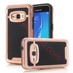 Picture of 2 In 1 Striated Metal Case With Card Slot For Samsung J1