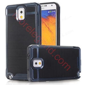Picture of 2 In 1 Striated Metal Case With Card Slot For Samsung Note3