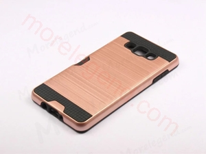 Picture of 2 In 1 Striated Metal Case With Card Slot For Samsung A5
