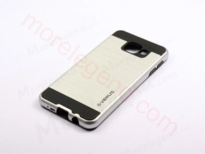 Picture of 2 In 1 Striated Metal Case With Card Slot For Samsung A7100