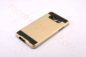 Picture of 2 In 1 Striated Metal Case With Card Slot For Samsung A7