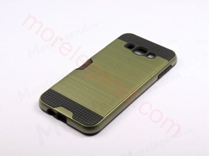 图片 2 In 1 Striated Metal Case With Card Slot For Samsung A8