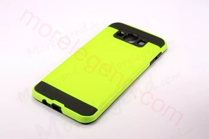 Picture of 2 In 1 Striated Metal Case With Card Slot For Samsung E7
