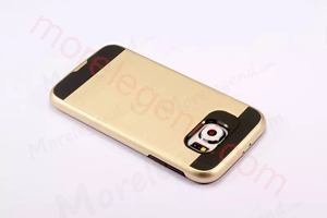 Picture of 2 In 1 Striated Metal Case With Card Slot For Samsung S6
