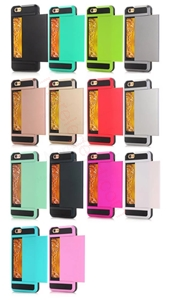 图片 2 In 1 Card Slot Case For iPhone 5G/5S/5Se