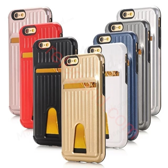 Picture of Travel Suitcase Mobile Phone Case With Card Slot For iPhone 6Plus