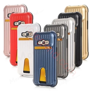 Picture of Travel Suitcase Mobile Phone Case With Card Slot For Samsung J1