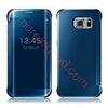 Picture of Elegant Glitter Smart Flip Case Electroplated Mirror Hard Clear Transparent Phone Case Cover for Samsung S7 edge