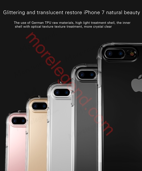 Picture of Shock Absorption Flexible TPU Bumper Anti-Scratch Protective Case Clear Back Cover for iphone 7 plus