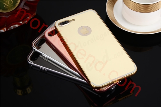 Picture of Mirror Case With Metal Electroplate Bumper Back Shell Hard Case Cover for iphone 7 plus