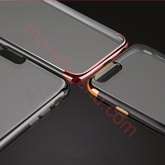 图片 Ultra Thin Flexible Soft TPUElectroplated Case with Crystal Back for iphone 6 plus/6s plus