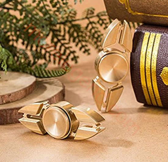 图片 Fidget Toy Hand Spinner Brass Finger Toy EDC Focus Fidget Spinner