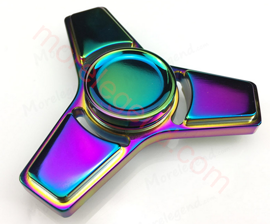 Picture of Tri-spinner metal EDC toys 2017 smooth-surface fidget spinner ceramic bearing finger spinner anti stress for adults