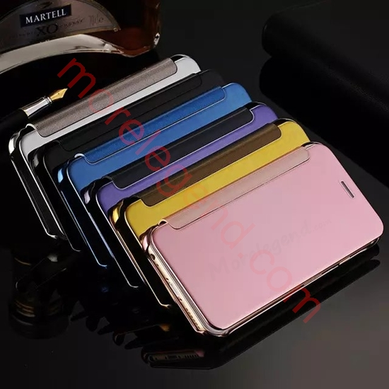 Picture of For Samsung models Elegant Electroplated Mirror PC Flip Case