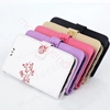 Picture of For Multiple Models Wallet Case,Flower Pattern PU Leather Case,Flip Cover with Card Slots