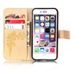 Picture of For iPhone Models Wallet Case,Flower Pattern PU Leather Case,Flip Cover with Card Slots