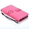 Picture of For Samsung Models Wallet Case,Flower Pattern PU Leather Case,Flip Cover with Card Slots
