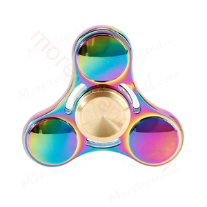 图片 Good Quality Multicolor Tri-Spinner Metal UFO Fidget spinner Speelgoed EDC Hand Spinner Anti Stress Reliever handspinner
