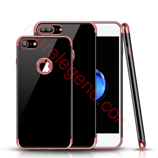 Picture of Ultra Thin Plating Jet Black TPU Case Silicone Shockproof Back Cover