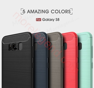 Picture of Environmental Carbon Fiber TPU Case Anti-Skid Soft Cover Case