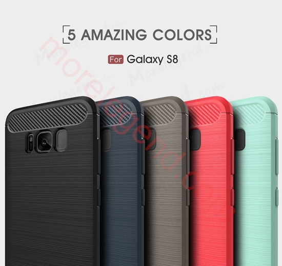 图片 Environmental Carbon Fiber TPU Case Anti-Skid Soft Cover Case