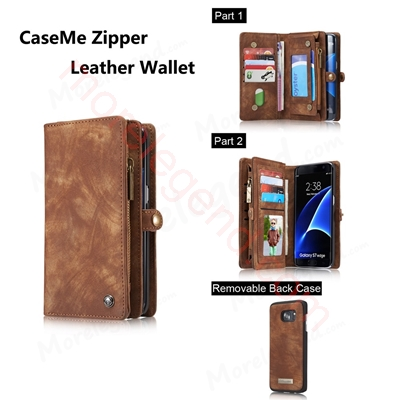 Picture of Caseme 008 Leather Case Magnet Removable Flip Card Slots Wallet Case