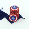 Picture of Captain America Fidget Spinner Metal Aluminum Alloy Stress Reliever American Captain Hand Spinner