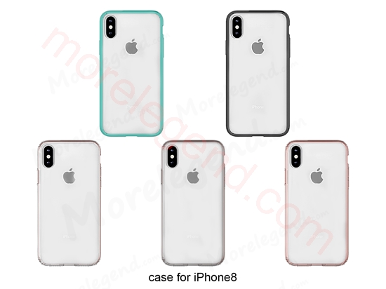 Picture of Hybrid Trasparent acrylic + TPU edge Back Phone Case for iPhone 8