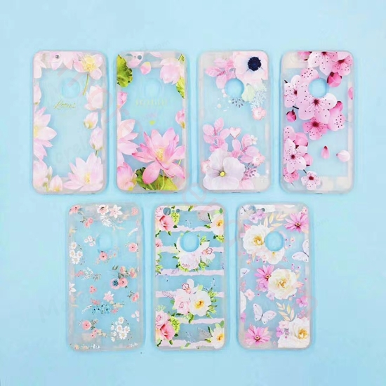 Picture of Real flower clear gel phone cover for iphone  case tpu phone case