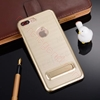 图片 For Multiple Models Luxury Hybrid Shockproof Brushed Aluminum Kickstand Case