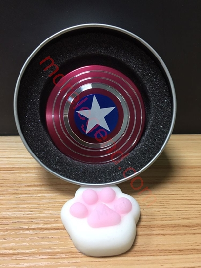 图片 Captain America Fidget Spinner Metal Hand Spinner Anti Stress Fingertips Toys Spinners