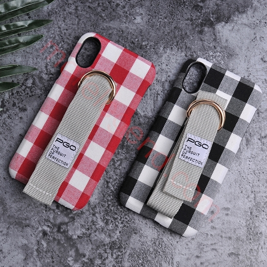 图片 Convas Back Cover Case With Strap for Iphone 8