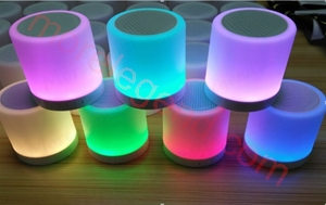 Picture of Fashion LED Night Light Touch Lamp Mobile Wireless Music Mini Portable Bluetooth Speaker
