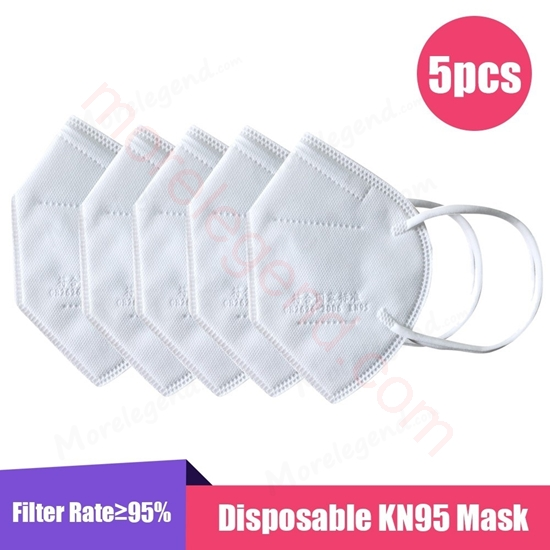 Picture of 5PCS KN95 Face Mask Anti PM2.5 Anti Particle Mask Protection Dustproof Mouth Mask Fliters