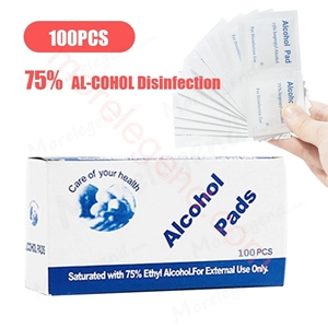 Picture of 100PCS Disposable Sterilized Cotton Pads Mobile Phone Cleaning Wipe Skin Cleaning Sanitary Wipes